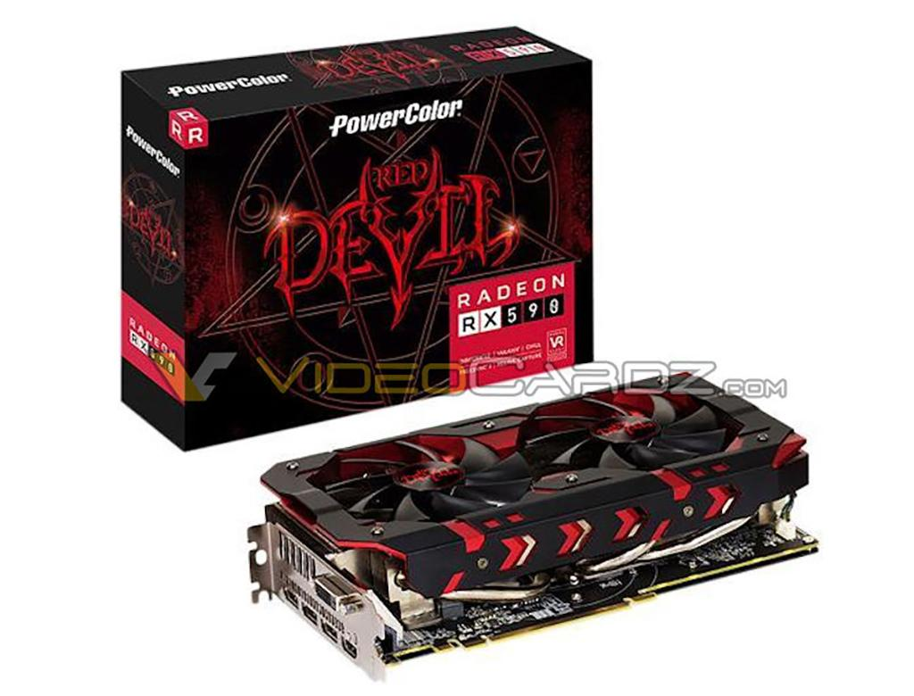 Замечена видеокарта PowerColor Radeon RX 590 Red Devil