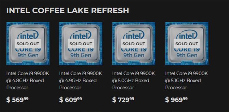 Магазин Silicon Lottery предлагает отборные экземпляры Core i9-9900K за почти 00
