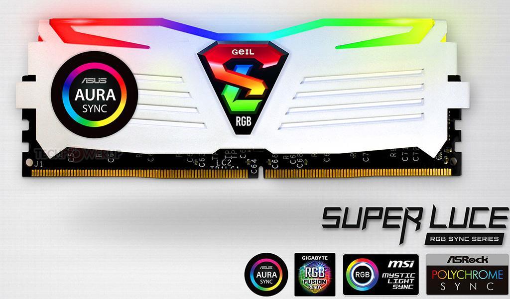 GeIL расширяет линейку оперативной памяти Super Luce RGB Sync DDR4 новыми комплектами