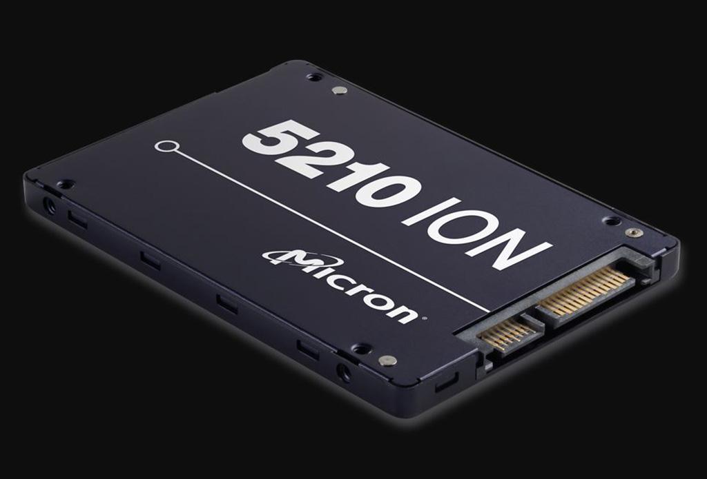Начались поставки SSD-накопителей Micron 5210 ION на базе QLC-памяти