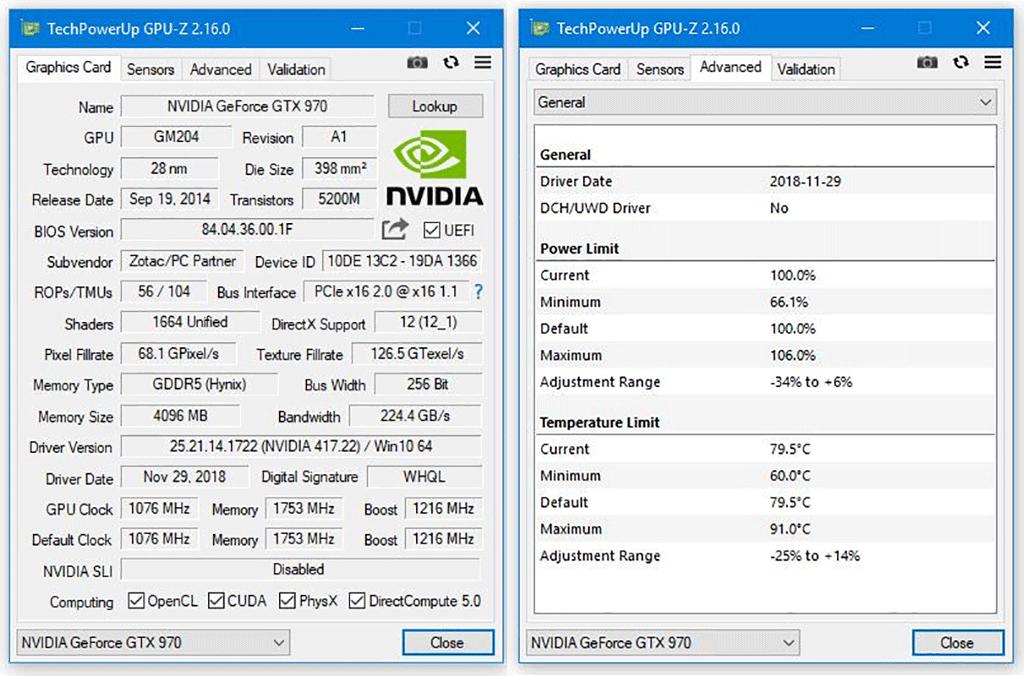 Утилита GPU-Z 2.16.0 доступна к загрузке. Добавлена поддержка RTX 2060