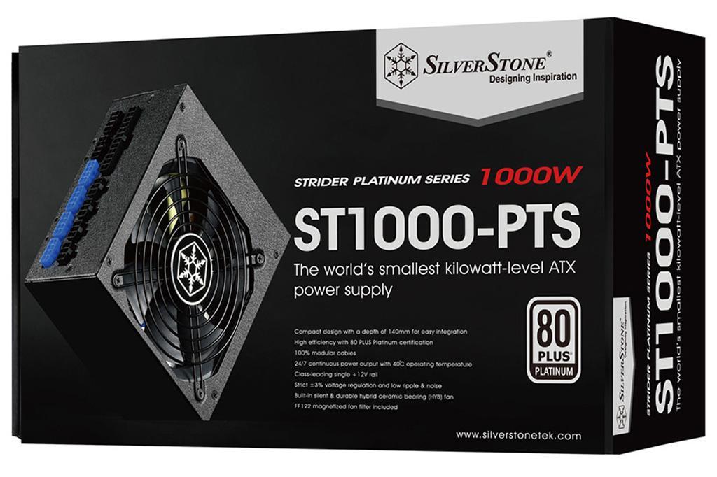 SilverStone расширяет линейку самых компактных блоков питания Strider Platinum моделями на 1000 и 1200 Вт