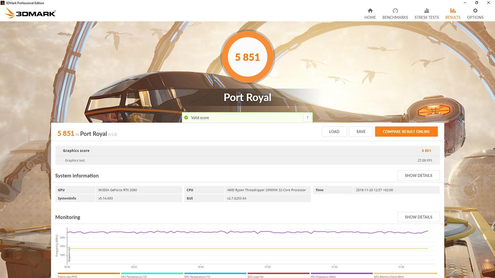 Бенчмарк 3DMark Port Royal доступен к загрузке