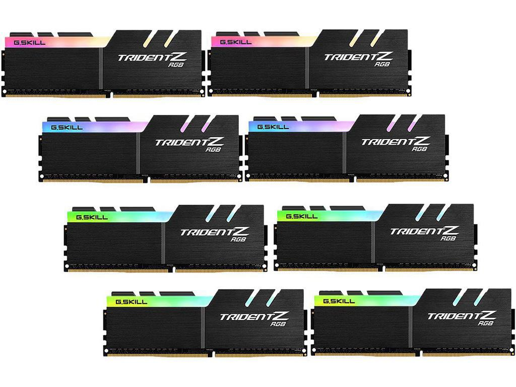 G.Skill выпускает 4266-мегагерцовые комплекты памяти Trident Z RGB и Trident Z Royal 64 ГБ (8х 8 ГБ)