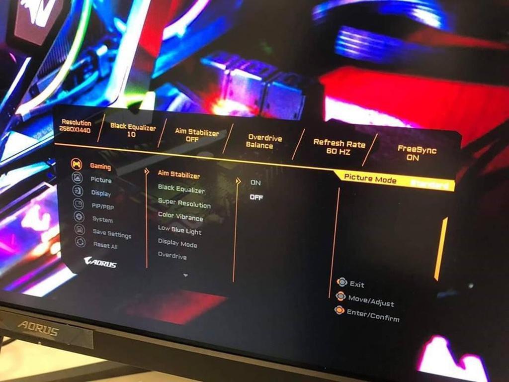 Gigabyte готовит свой первой монитор под брендом Aorus