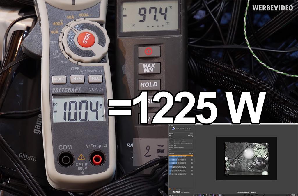 Энергопотребление Intel Xeon W-3175X в разгоне превышает 1,2 кВт