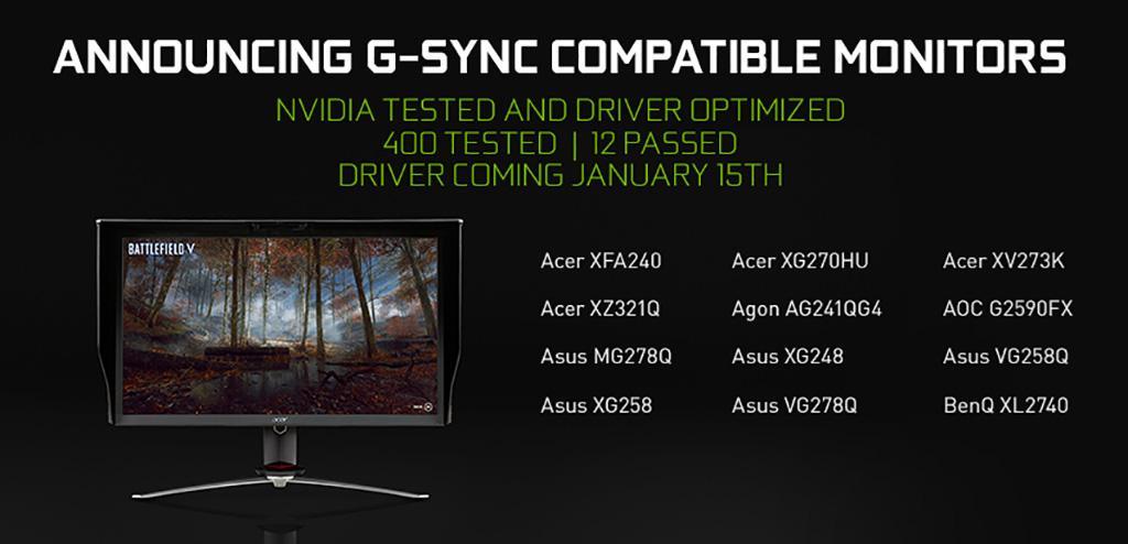 Видеокарты NVIDIA скоро получат поддержку FreeSync