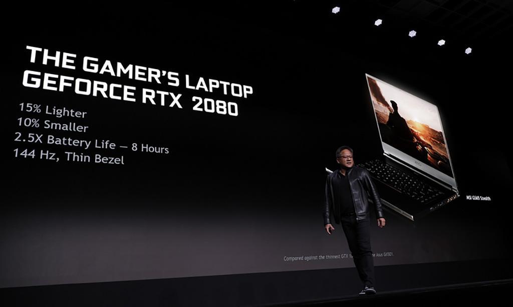 NVIDIA представила мобильные видеокарты GeForce RTX
