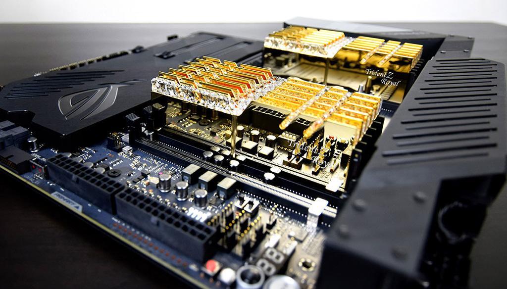 G.SKILL представила 6-канальные комплектны памяти Trident Z Royal DDR4 RGB ёмкостью 192 ГБ
