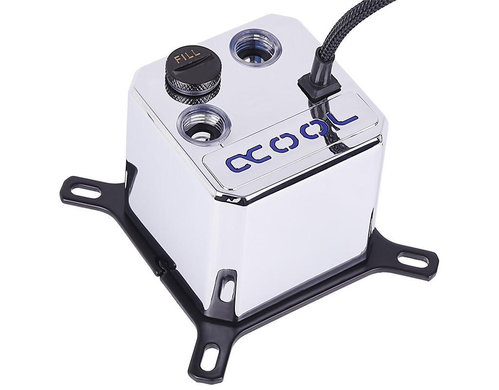 Alphacool Eisbaer Solo Chrome – водоблок, помпа и резервуар в одном флаконе