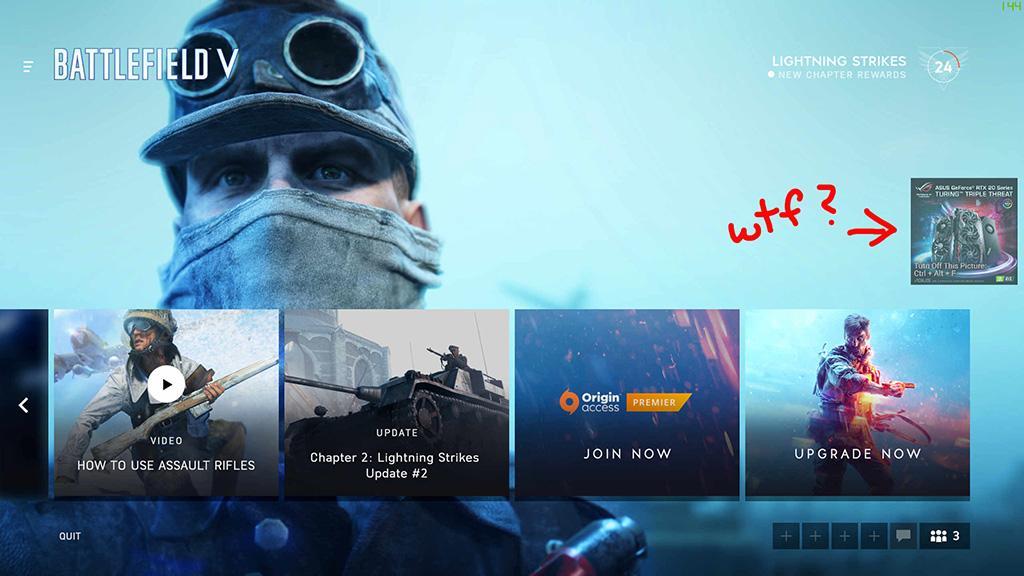 Дожили: утилита ASUS GPU Tweak II показывает рекламу поверх игр (нет)