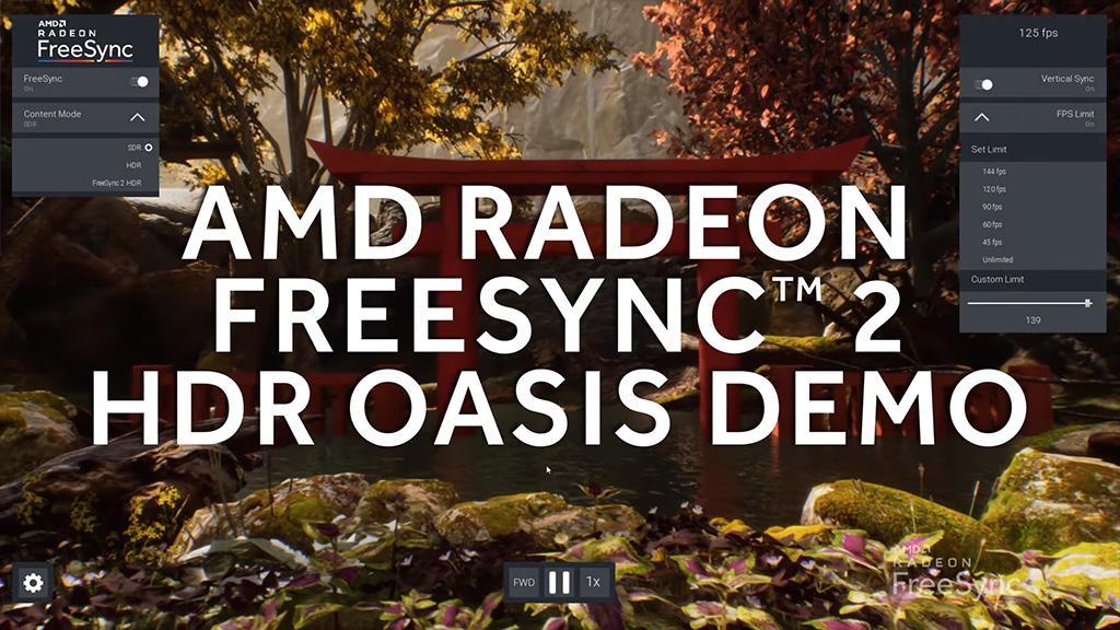 AMD FreeSync 2 HDR Oasis Demo наглядно покажет преимущество FreeSync 2