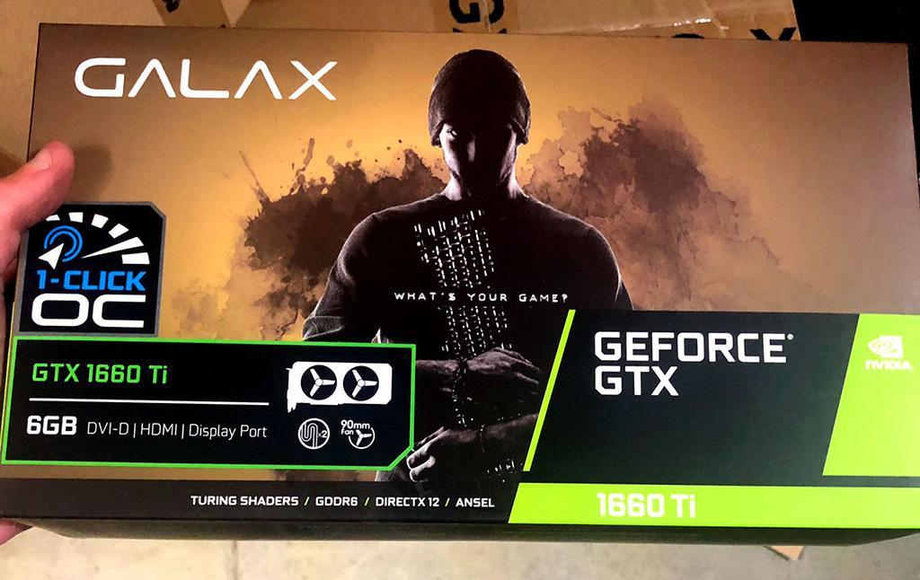 В Сети замечены фото коробки Galax GeForce GTX 1660 Ti