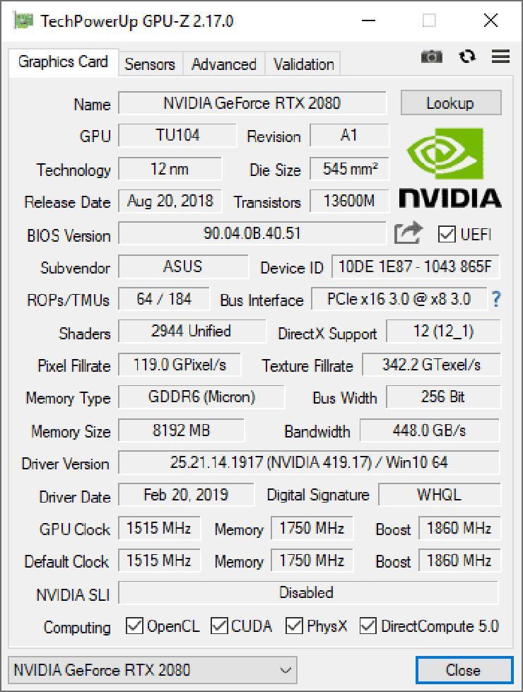 Утилита GPU-Z 2.17.0 доступна к загрузке. Добавлена поддержка Radeon VII и GTX 1660 Ti
