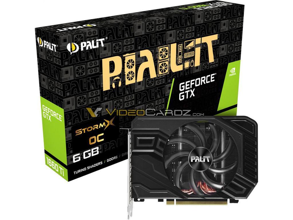 Изображения компактных версий GeForce GTX 1660 Ti от EVGA и Palit
