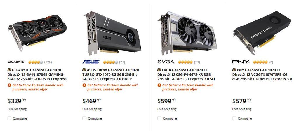 NVIDIA GeForce GTX 1070 готовится уйти на покой, как и GTX 1060