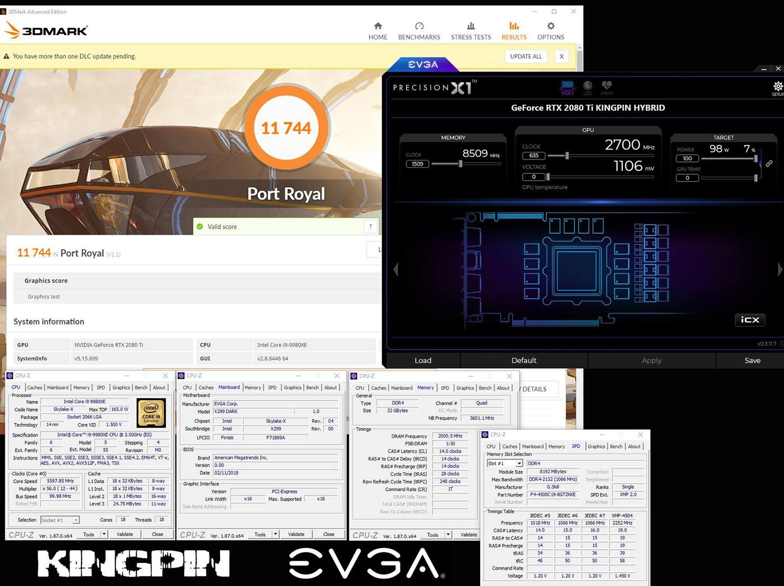 GeForce RTX 2080 Ti разогнана до 2,7 ГГц по ядру. Обновлен мировой рекорд 3DMark Port Royal