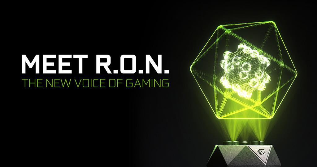 NVIDIA представила GeForce RTX R.O.N. – первый в мире голографический голосовой помощник
