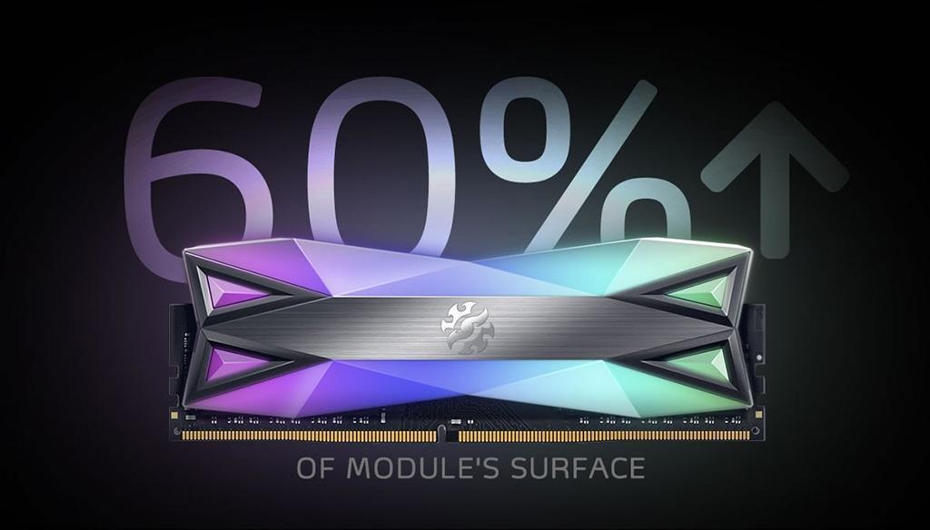 ADATA XPG Spectrix D60G RGB – самые «освещаемые» модули памяти
