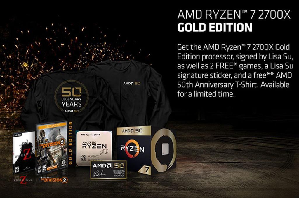 AMD Ryzen 7 2700X Gold Edition отличается не только коробкой + промо-акция от AMD
