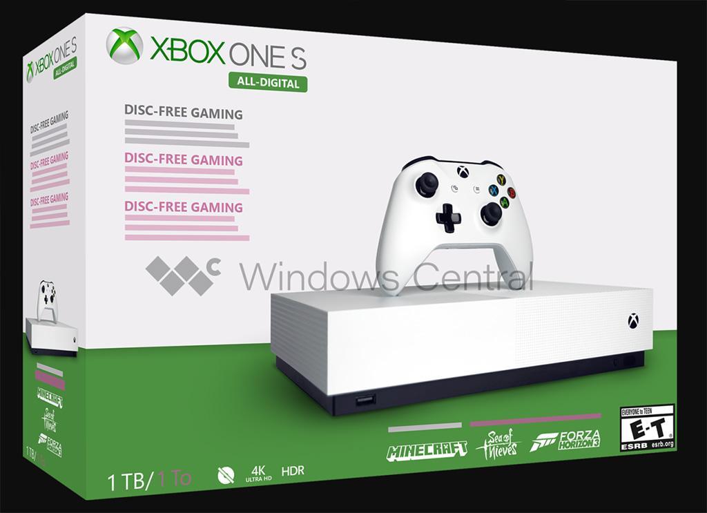 Консоль Xbox One S All Digital без оптического привода обзавелась ценником