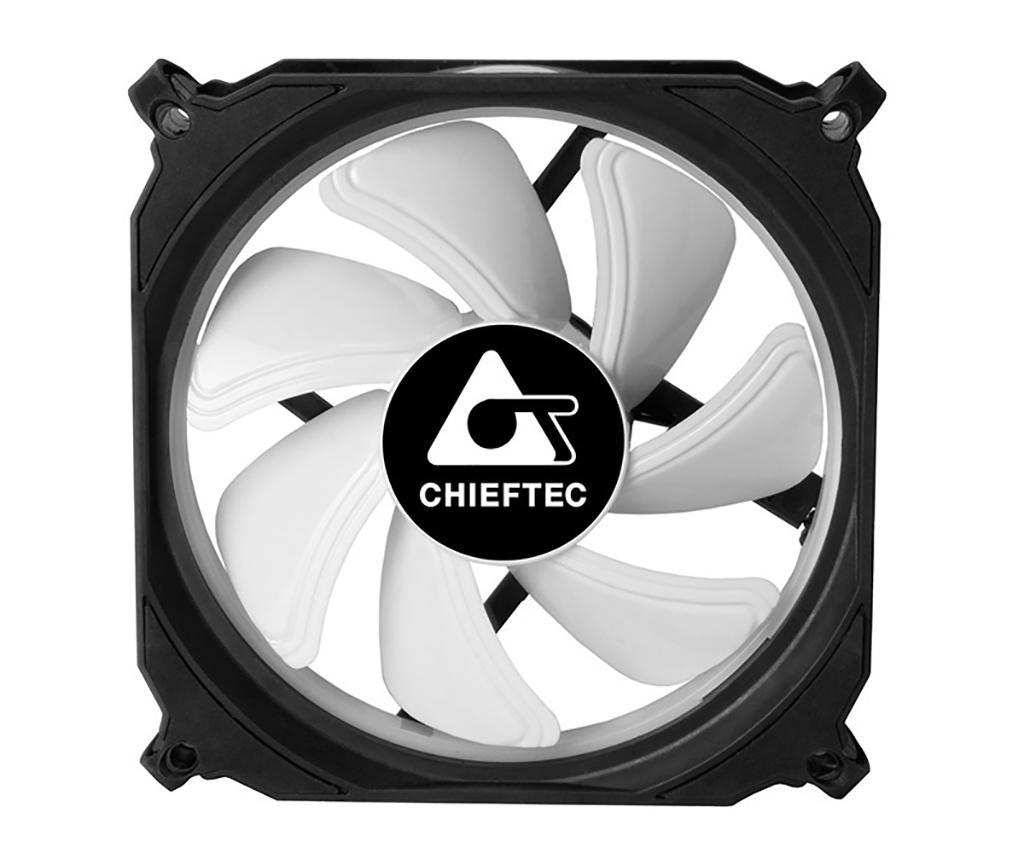 Начались продажи корпусных вентиляторов Chieftec Tornado CF-1225RGB