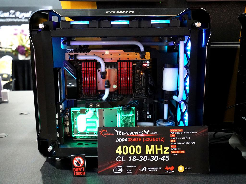 "Computex 2019: стенд G.Skill. Память DDR4-5200, ""самый сбалансированный комплект"", а также DDR4-4000 для платформ AMD"