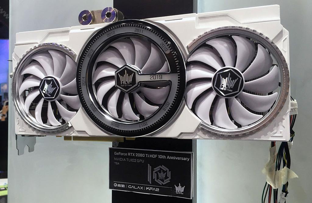 Computex 2019: замечена GALAX GeForce RTX 2080 Ti HOF 10th Anniversary Edition
