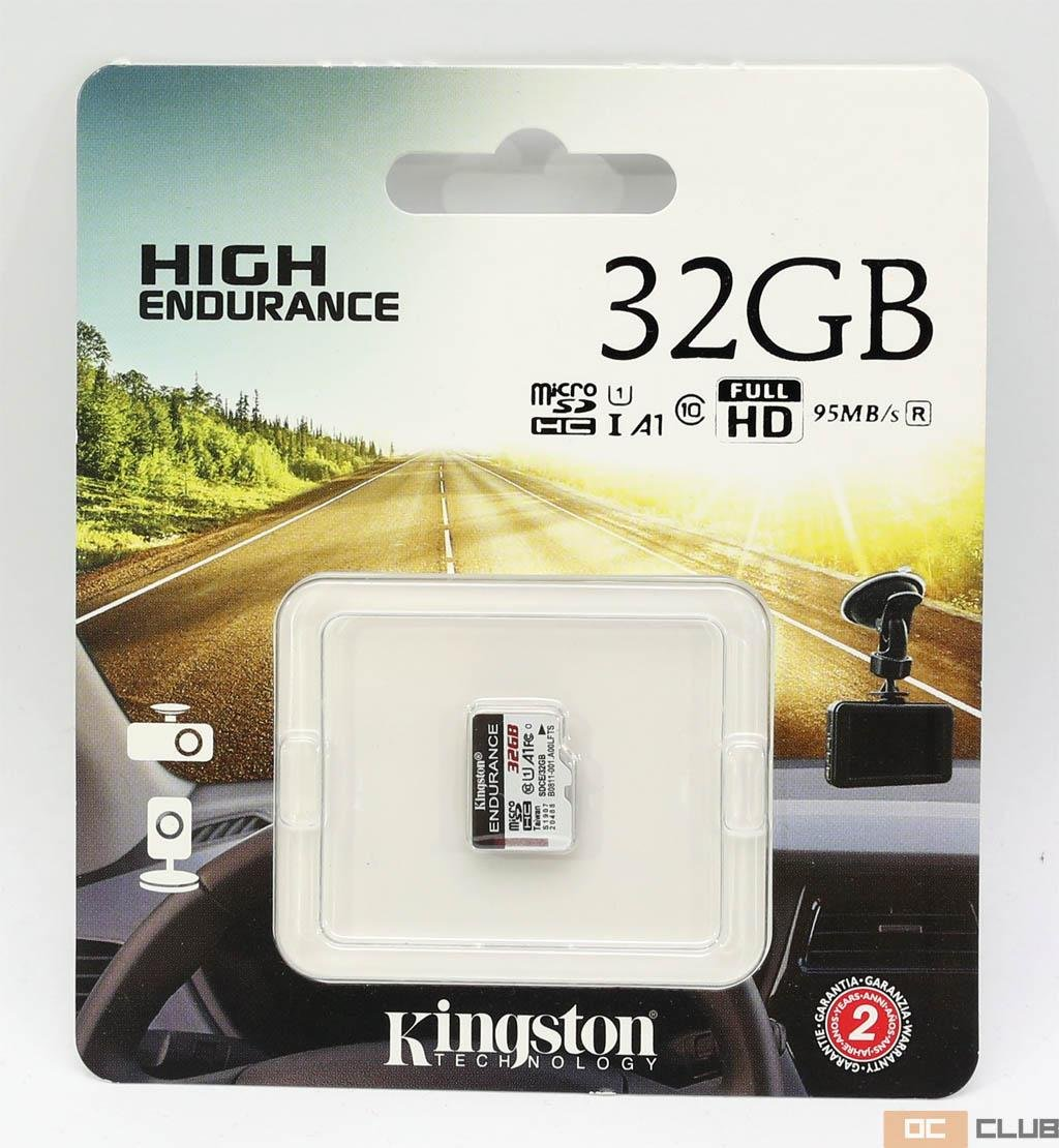 Обзор microSDHC карты памяти для видеорегистаторов Kingston High Endurance объёмом 32 ГБ