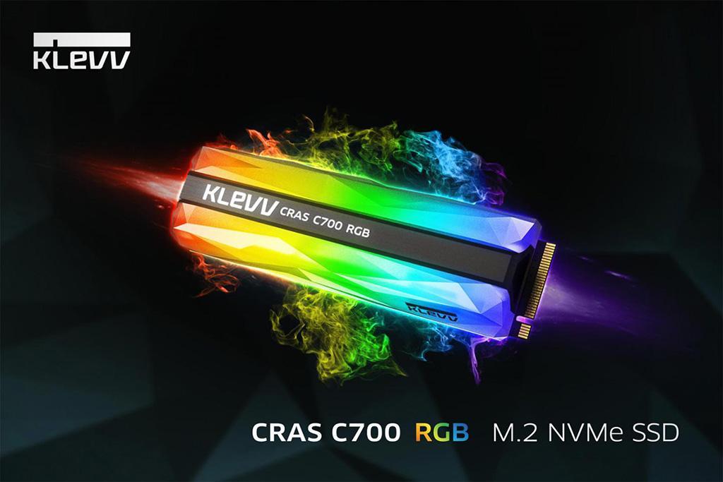 KLEVV CRAS C700 RGB – самые подсвечиваемые M.2-накопители