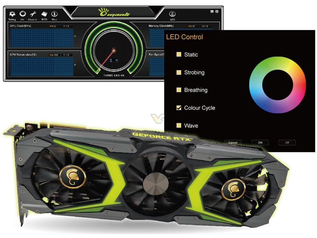 Manli представила видеокарты GeForce RTX 2080 и RTX 2080 Ti серии Gallardo