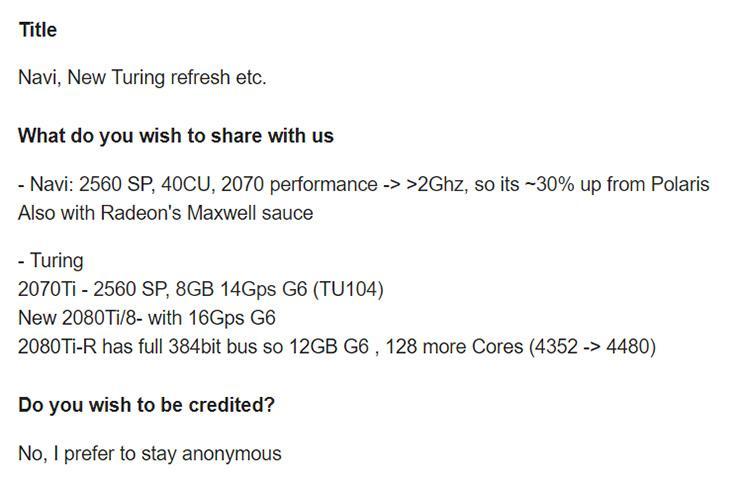 Слух: одним поднятием частот видеопамяти ответ NVIDIA на AMD Navi не ограничится
