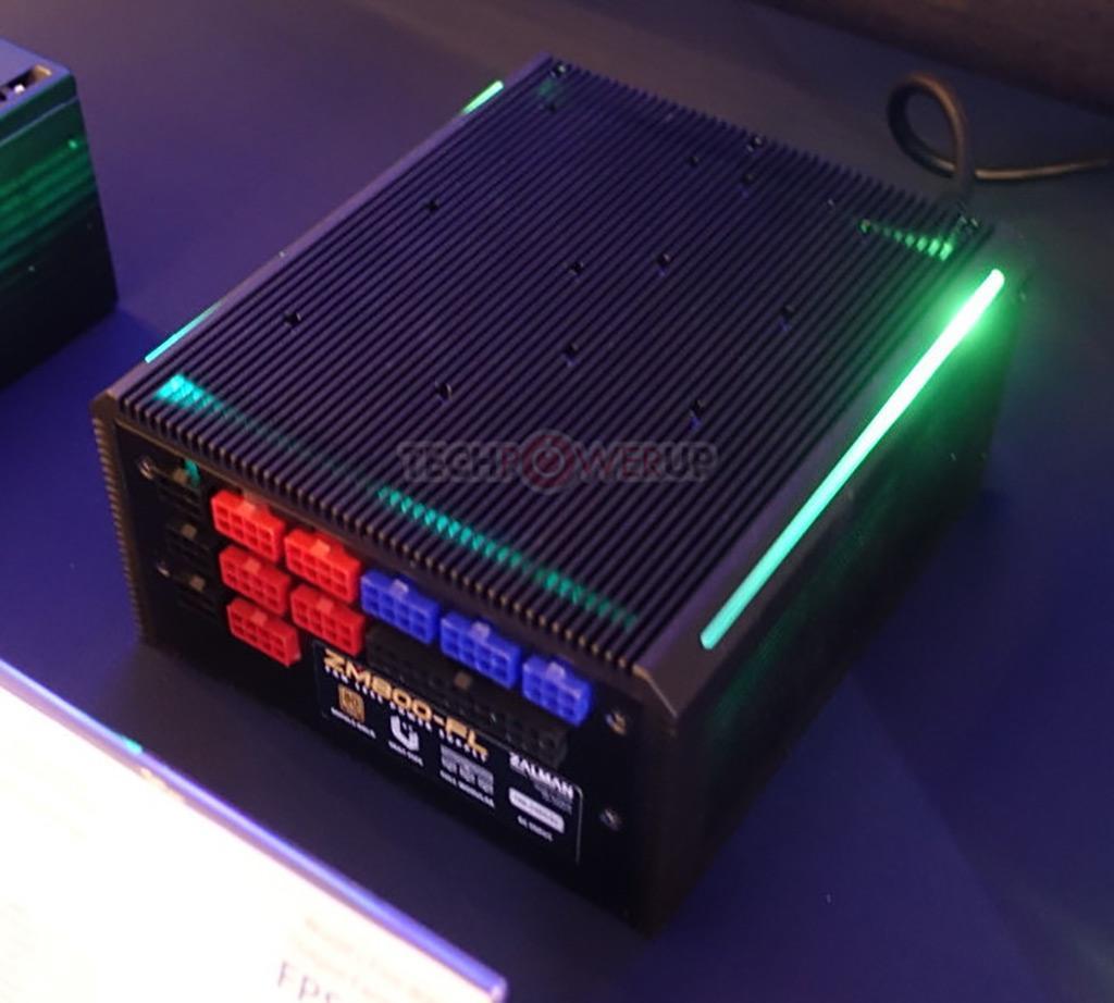 Computex 2019: стенд Zalman. 800-ваттный безвентиляторный БП и кулеры с алюминиево-медными радиаторами