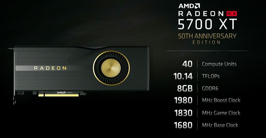 AMD Radeon RX 5700 XT 50th Edition – эксклюзив только для США и Китая