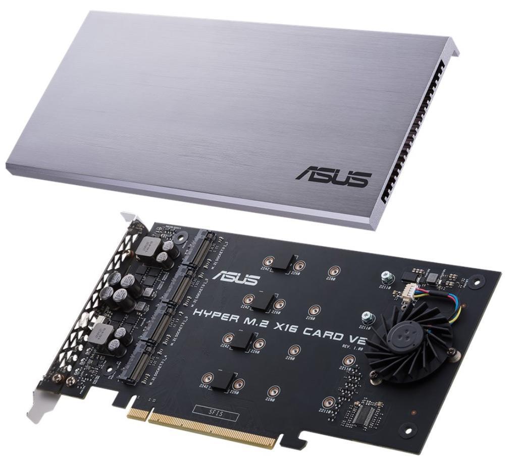 ASUS выпустила карту расширения Hyper M.2 x16 v2