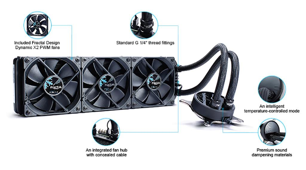 Fractal Design выпустила СВО Celsius S24 и Celsius S36 в версии Blackout
