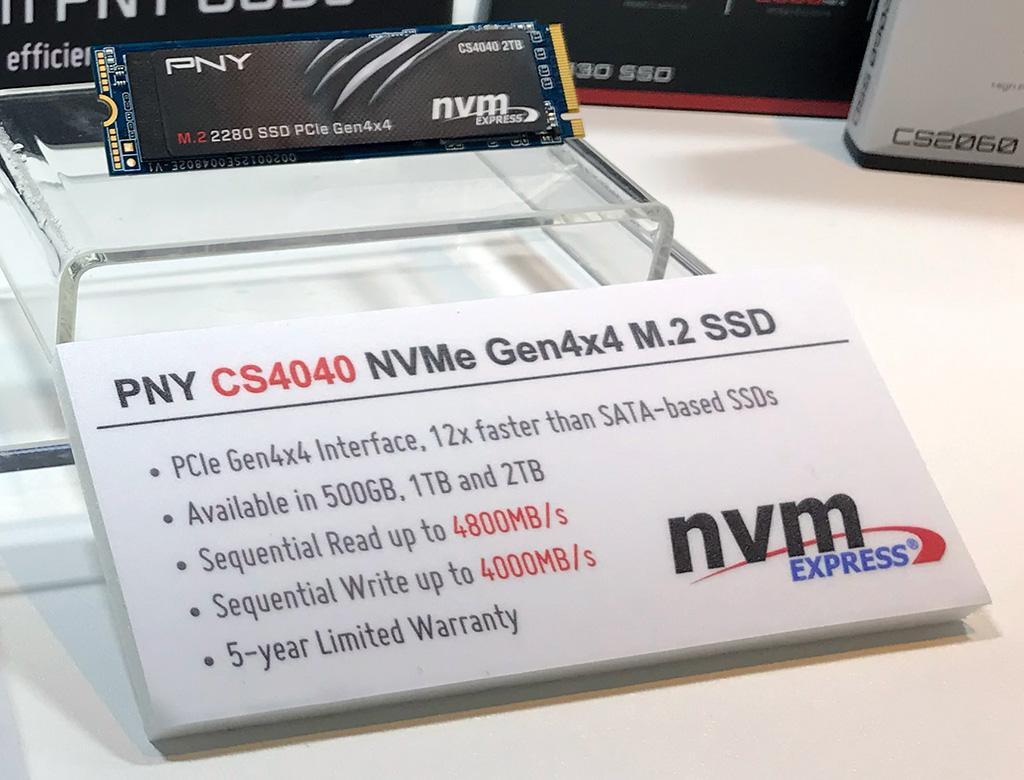 PNY XLR8 CS4040 – ещё один накопитель на базе PCI-Express 4.0