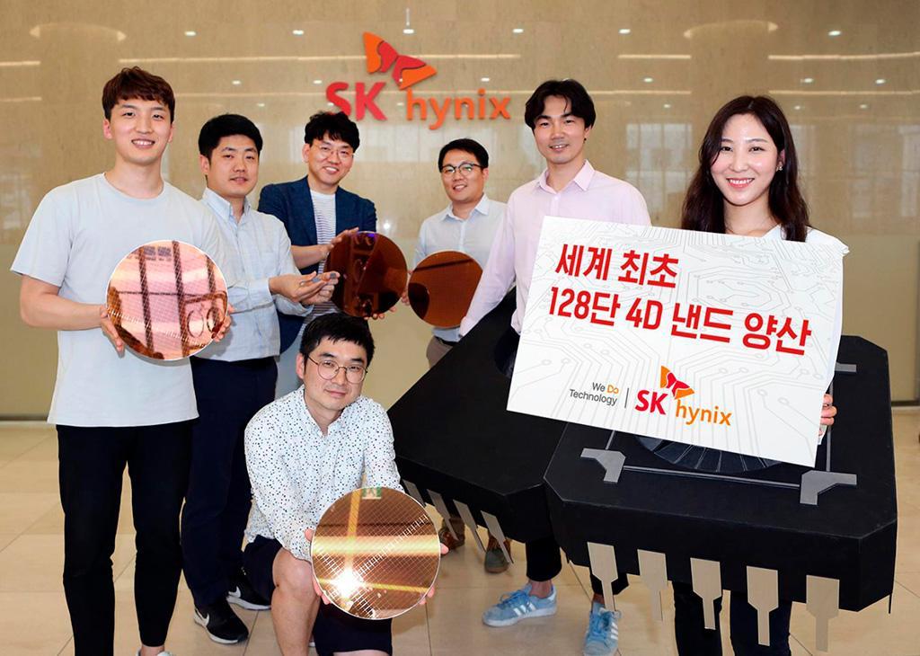 SK Hynix начала массовое производство 128-слойных микросхем типа 4D NAND TLC