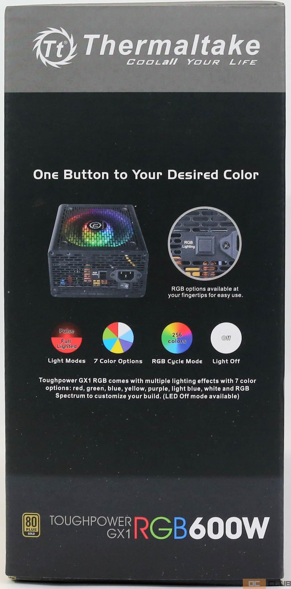 Thermaltake ToughPower GX1 RGB 600 Вт: обзор. Эксперимент удался