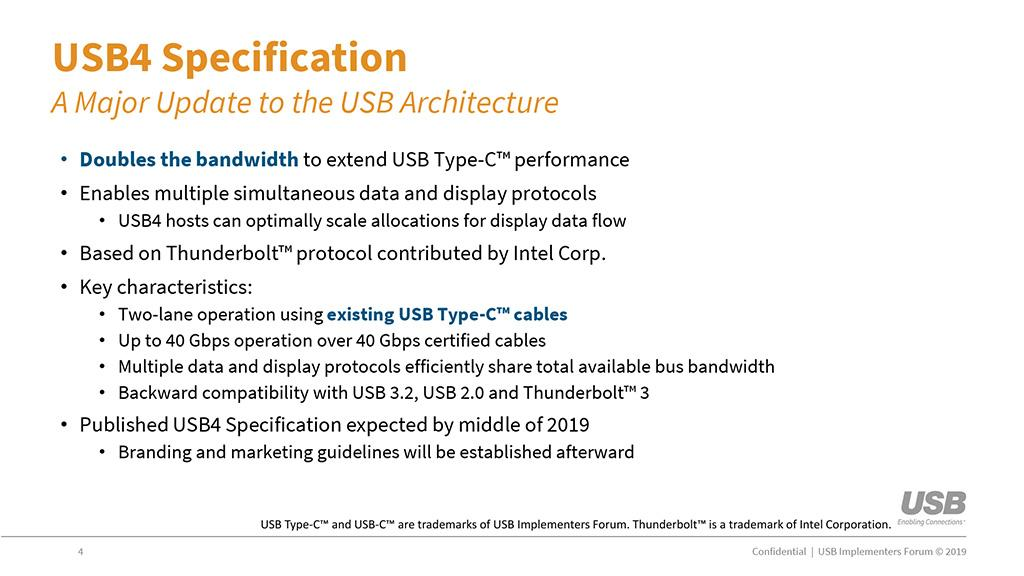 Различная электроника с USB 4.0 появится в конце следующего года