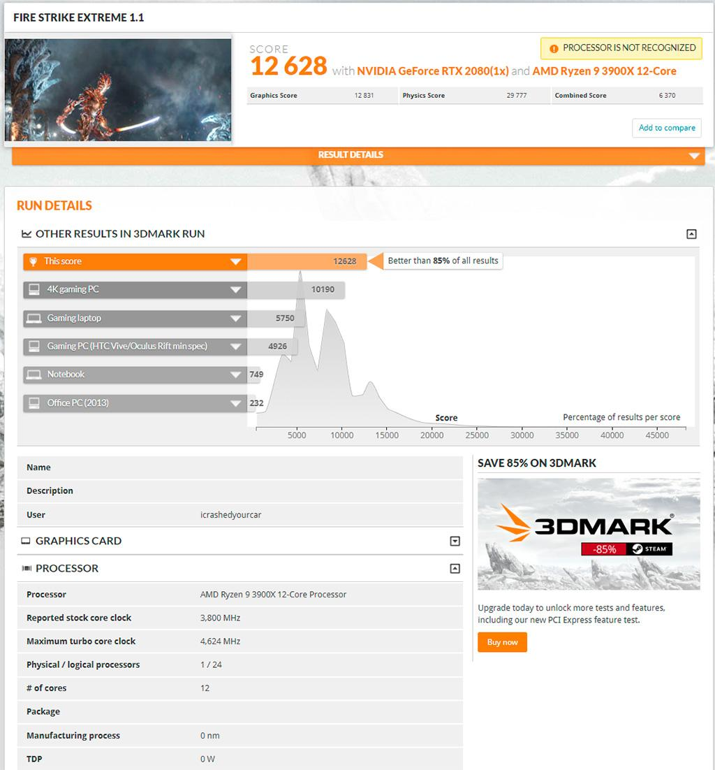Ryzen 7 3700X vs Core i9-9900K в разных 3DMark