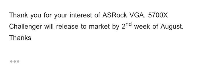 ASRock уточнила время запуска нереференсных видеокарт Radeon RX 5700 (XT)