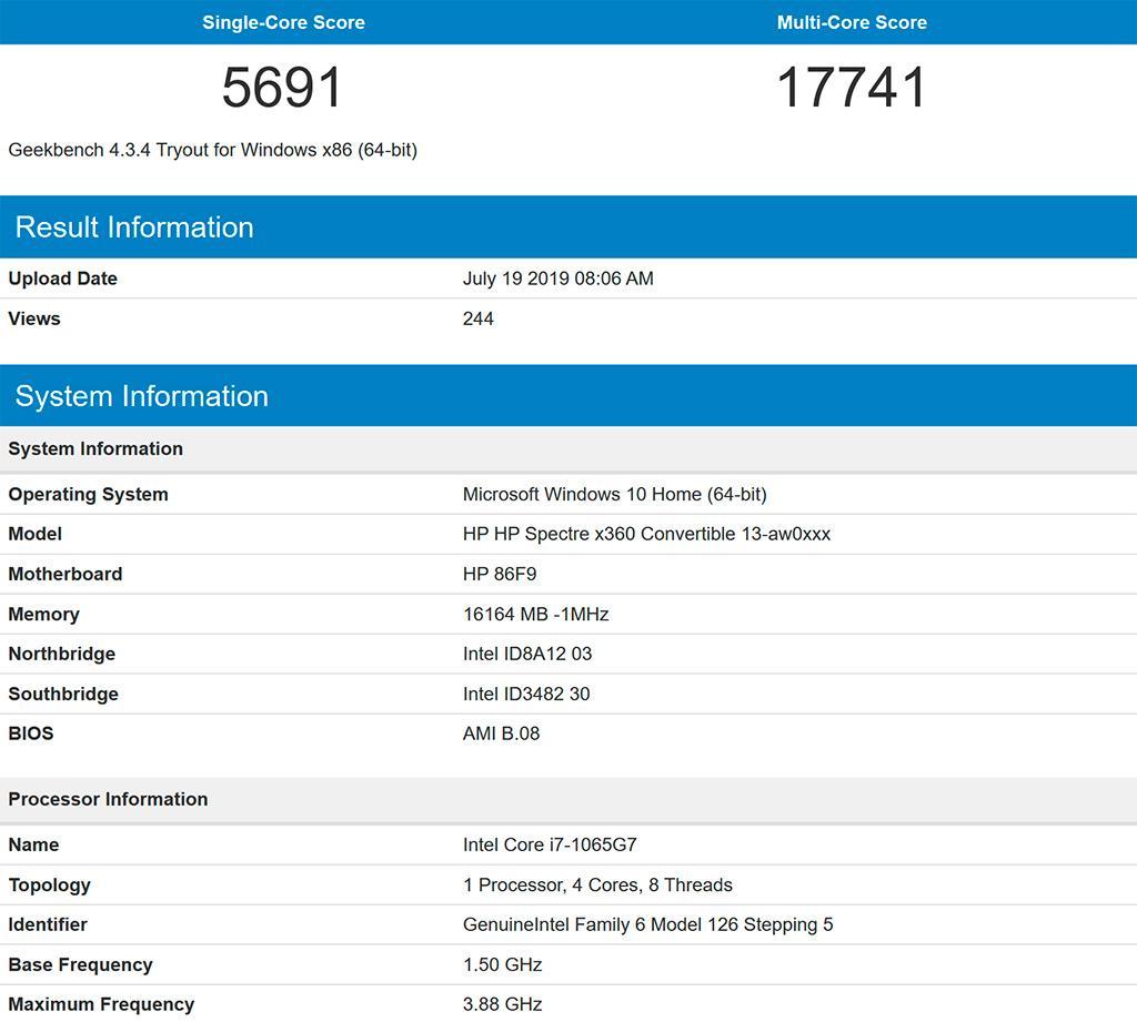 15-ваттный Intel Core i7-1065G7 на одном ядре работает быстрее, чем 105-Вт Ryzen 9 3900X