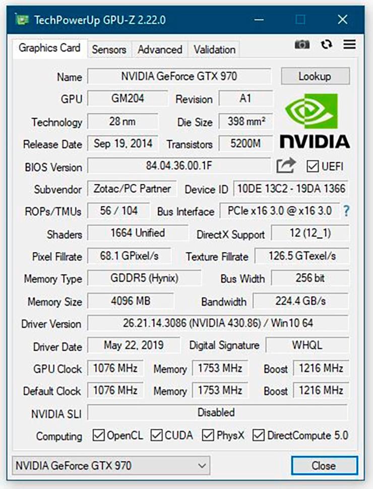 Утилита GPU-Z обновлена до версии 2.22