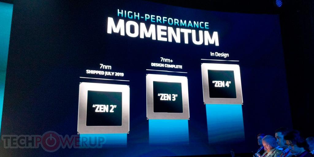 AMD: архитектура Zen 3 готова, Zen 4 в процессе разработки