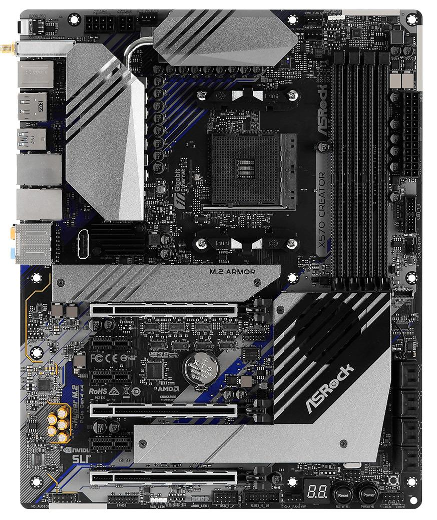 Плата ASRock X570 Creator получила 10-гигабитный сетевой интерфейс