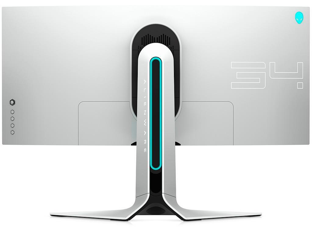 Монитор Dell Alienware AW3420DW выполнен в футуристическом дизайне