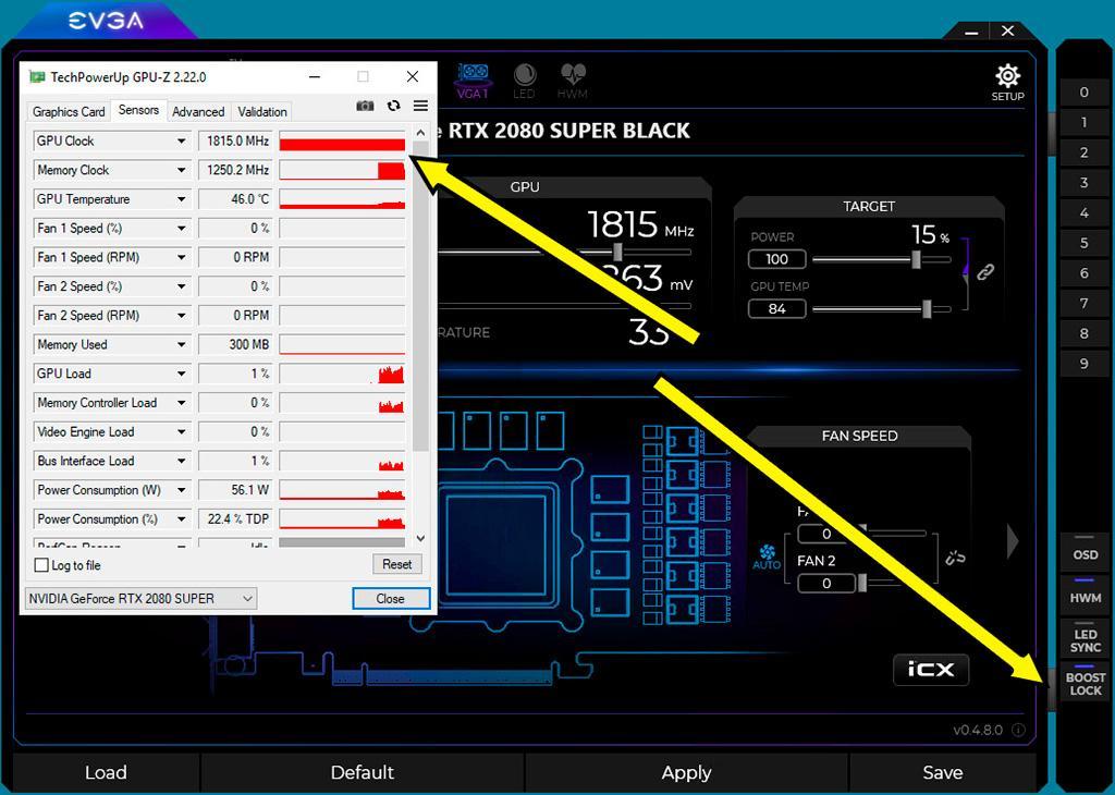 Утилита EVGA Precision X1 научилась мёртво фиксировать частоту GPU