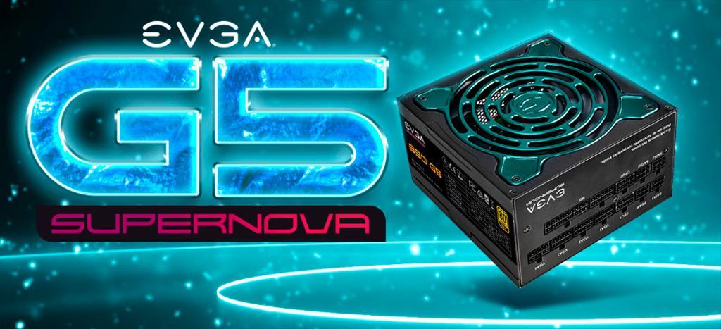EVGA предлагает блоки питания SuperNOVA G5 с «золотым» сертификатом