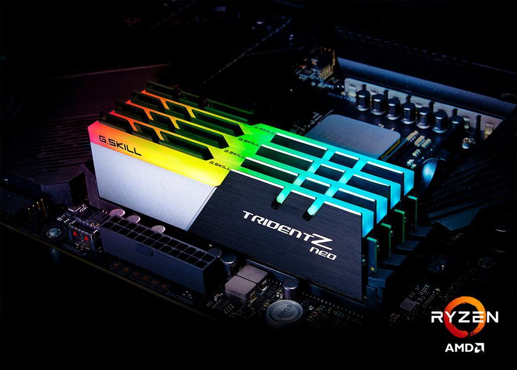 G.Skill предлагает память Trident Z Neo DDR4-3800 для процессоров Ryzen 3000 с очень низкими таймингами